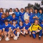 Monsters of Rock Various Bands Football Team, Frankfurt Sep '86, ©1986 Robert EllisRepfoto. Go on…. name them all!!